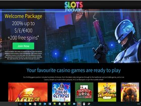 Slots Heaven Casino Main Page
